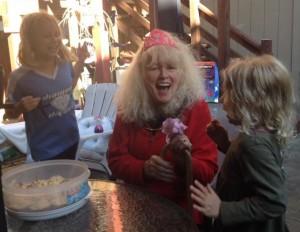 EmmaJean and Olivia make me feel brave and happy as I turn 70