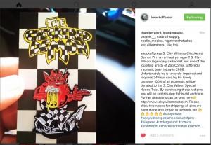 Checkered Demon Pin