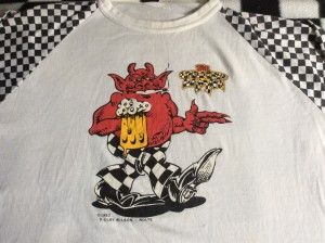 Vintage Checkered Demon t-shirt sizeL 1982