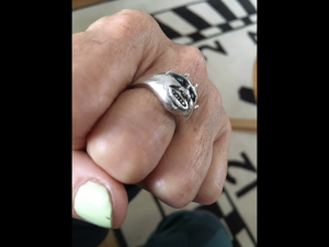 Checkered Demon ring